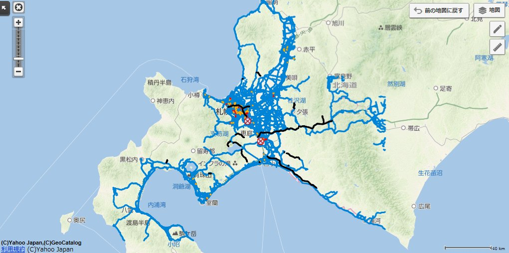 Hondaは、9月6日午前3時08分頃に北海道で発生した最大震度6強を観測する地震に伴い、北海道エリアの通行可能な道路の参考情報として、Yahoo!地図に「インターナビ通行実績情報マップ」を公開しました。 インターナビ通行実績情報マップ:https://t.co/Rmq4XrFBHY