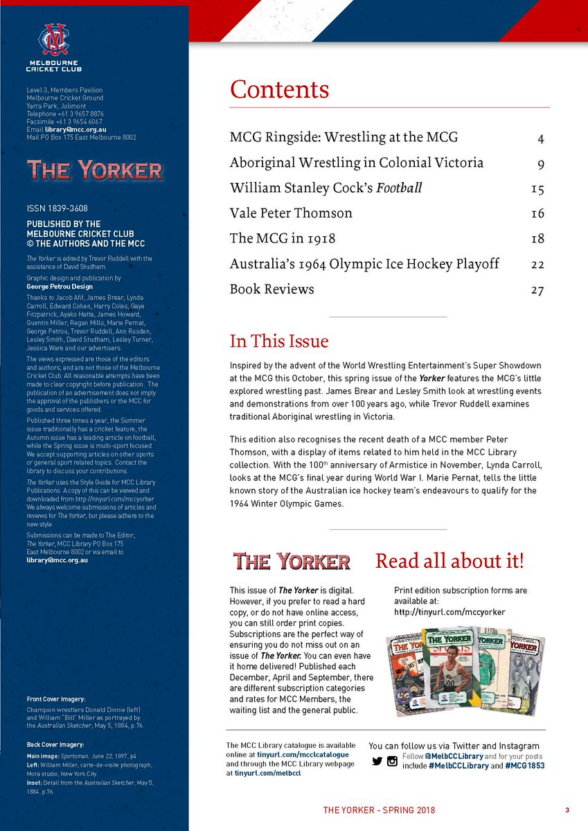 MelbCC Library On Twitter Issue 66 Of TheYorker Released For AFLFinal2018 From Tonight Hard Copies Available 10 MelbCCLibrary Reference Desk