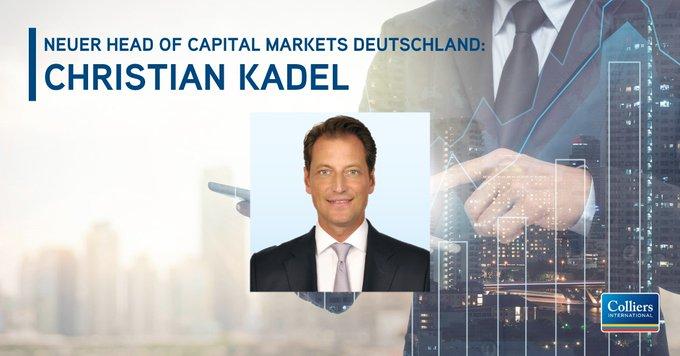 Expansion: Neuer Head of Capital Markets<br><br>Christian Kadel FRICS leitet seit 1. September den Bereich Capital Markets bei Colliers International in Deutschland. <br><br>Herzlich willkommen bei Colliers International, Christian Kadel! <br> #capitalmarkets t.co/nvd65B0obp