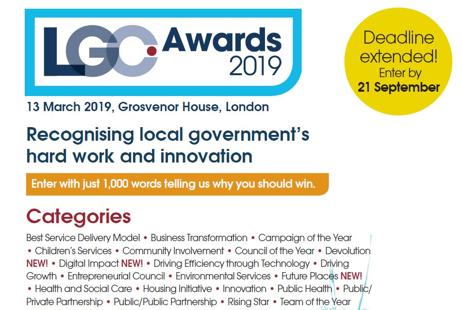 RT @LGCAwards Have you started your entries yet? If you need any help at all please contact Ella.McGregor@EMAP.com. There are 21 categories so there should be at least one area your council deserves to get recognition for. https://t.co/4q0JbwmB4I
