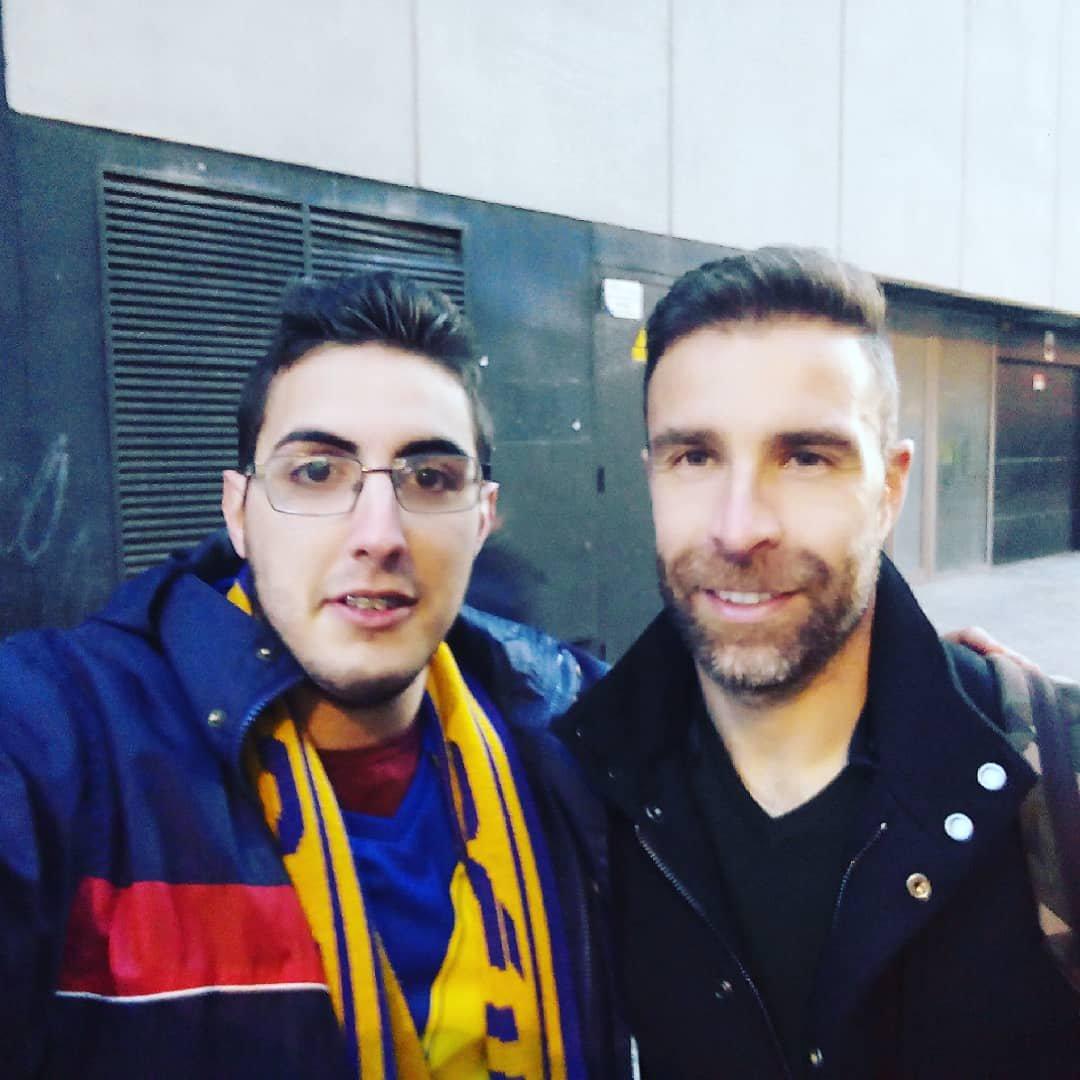 David, junto a Alberto Cifuentes (Foto: @seccionbarbate).