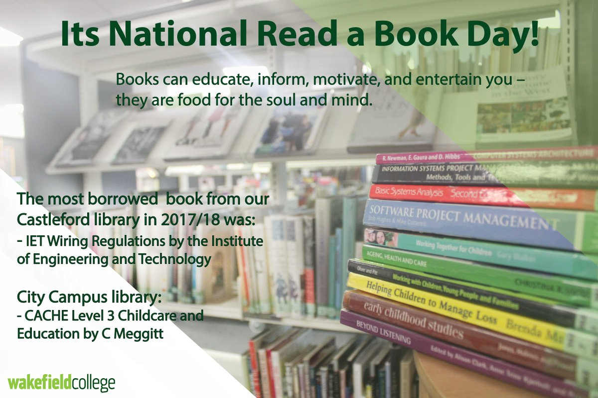 Wakefield College On Twitter Its National Read A Book Day Why Wiring Reg Books Libraries To See What We Have Help You With Your Course Our Friendly Library Staff Will Find Youre Looking For