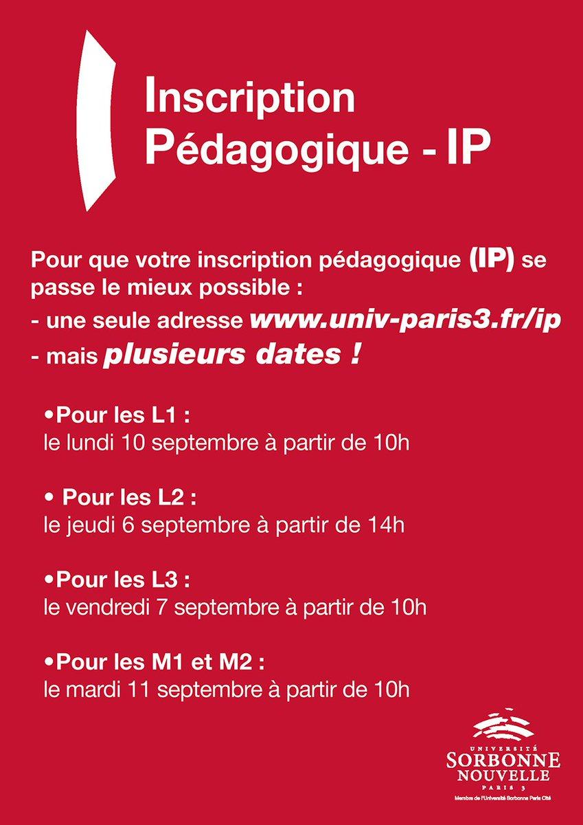 Sorbonne Calendrier.Sorbonne Nouvelle On Twitter Pour Que Vos Inscriptions