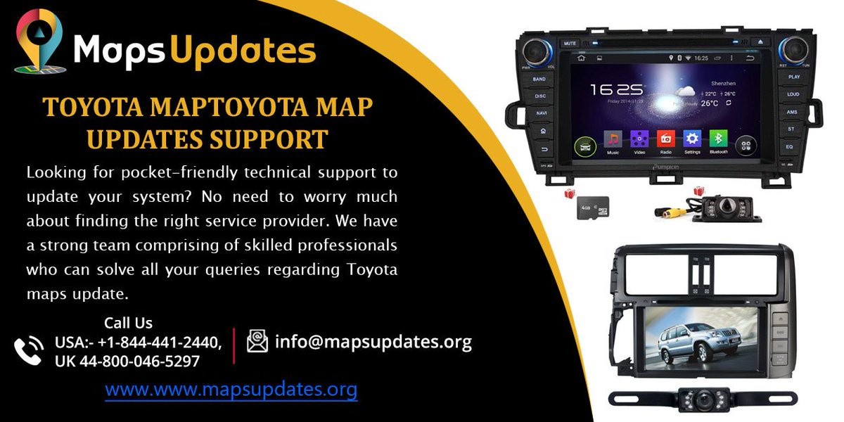 Grab The Solution For Toyota Map Updates Support By Mapsupdates Call Us At Usa 1 844 441 2440 Uk 44 800 046 5297 Mail Info Org