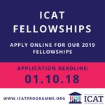 Don't forget - @ICATProgramme is open for fellowship applications! Queries to info@icatprogramme.org and lots of info on our website https://t.co/TCSQHPwlwo