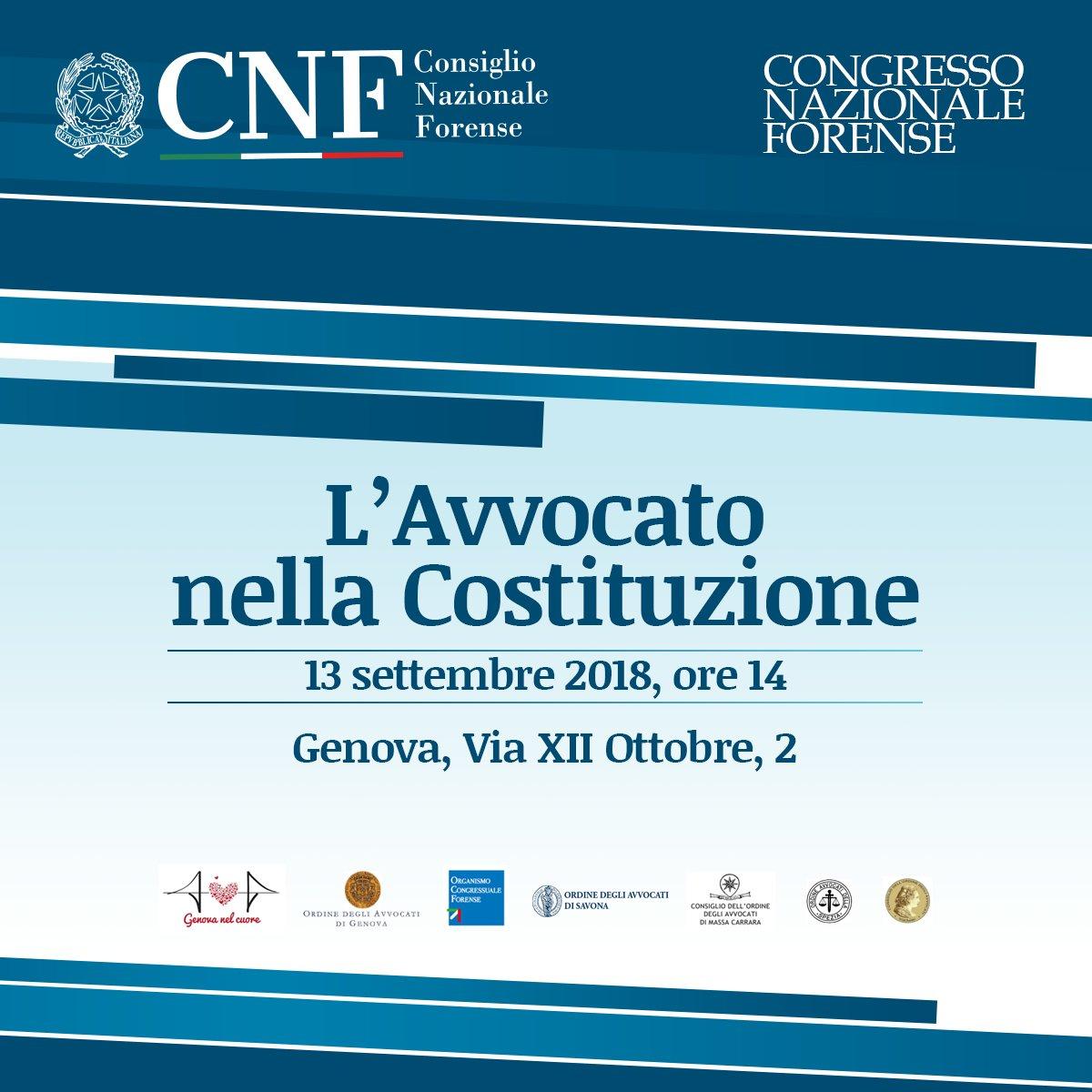 Il Presidente del #CNF @MascherinTweet interviene il 13 settembre a #Genova all'incontro sul tema congressuale dedicato al ruolo dell'#avvocato nella #Costituzione: http://bit.ly/Genova_130918  - Ukustom
