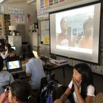Image for the Tweet beginning: Mystery Skype in room 13-trying