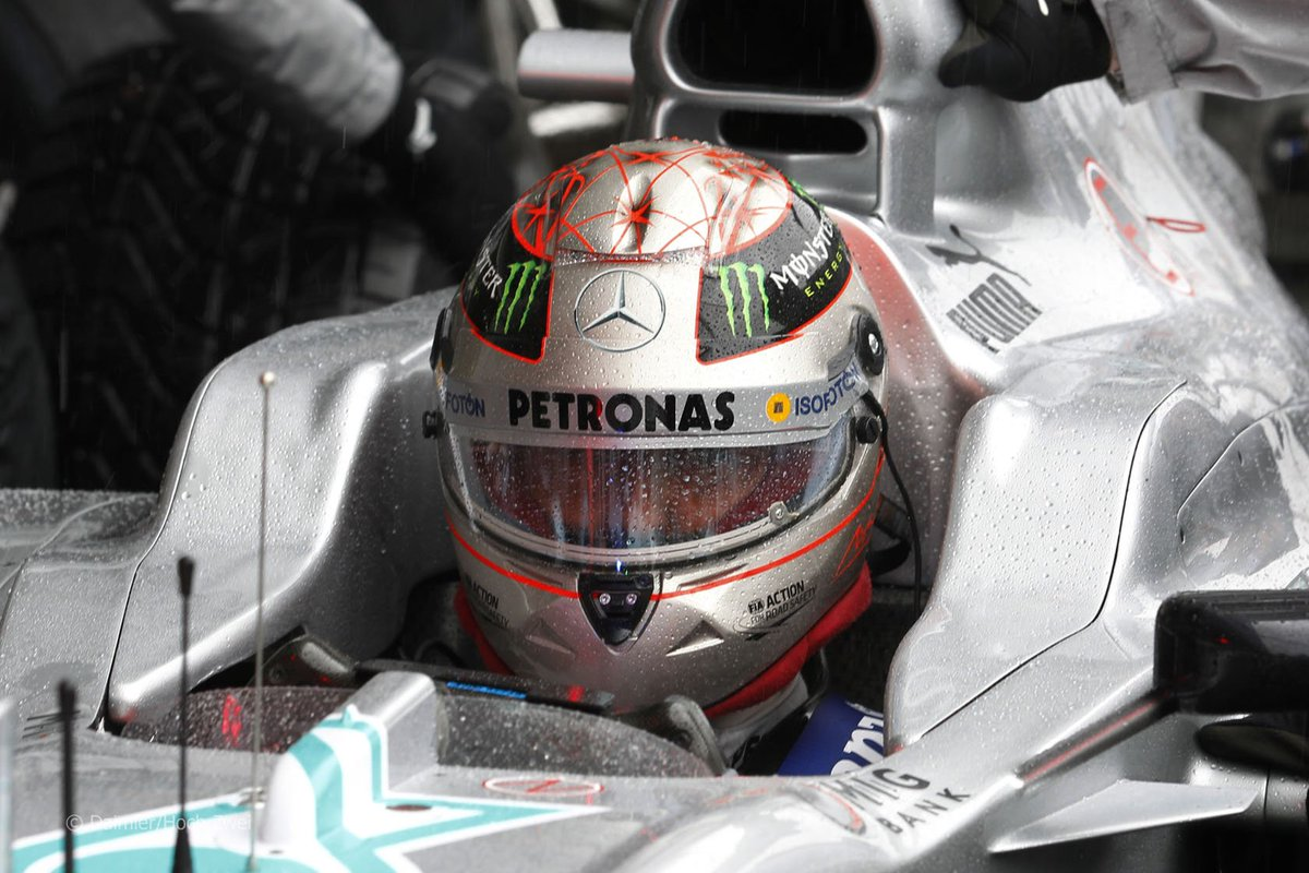 F1 In The 2000s On Twitter Michael Schumacher Mercedes F1 W03 2012 Belgium Spa Francorchamps F1 Keepfightingmichael A Special 300th Race Edition Silver Helmet Https T Co Zg8zyapw2q