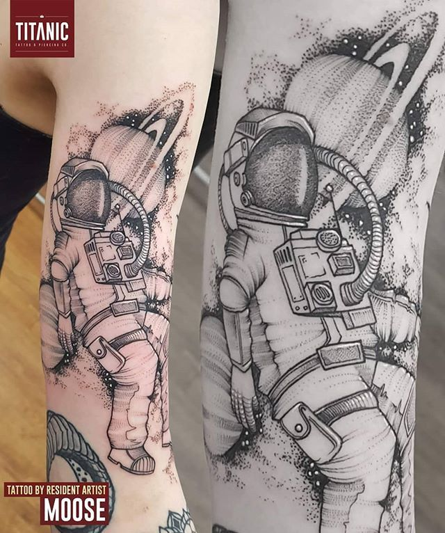Titanic Tattoos On Twitter An Astronaut Piece By Resident