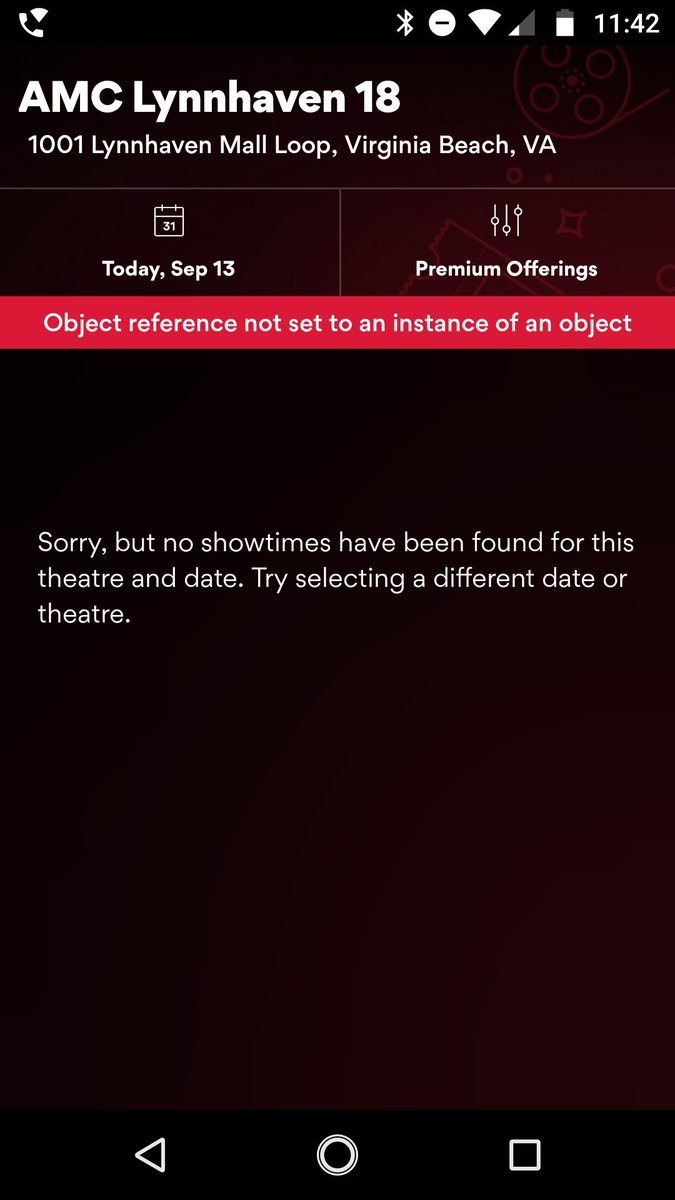Amc Theatres On Twitter That Doesn T Look Right I M Looking Into This With My It Teams To Make Sure The Error Gets Fixed Elizabeth