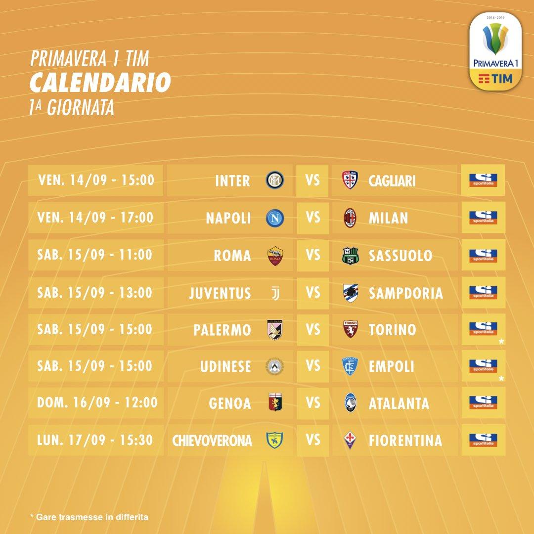 Campionato Primavera Calendario.Lega Serie A On Twitter Ricomincia Domani Il Campionato