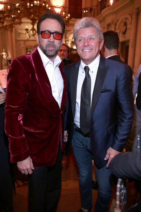 Happy birthday Peter Cetera! And thank you for giving us a sweet excuse to post this picture of you and Nic Cage!!