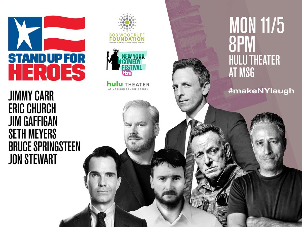 Honored to be a part of STAND UP FOR HEROES again! Tickets on sale now. ticketmaster.com/event/3B005518…