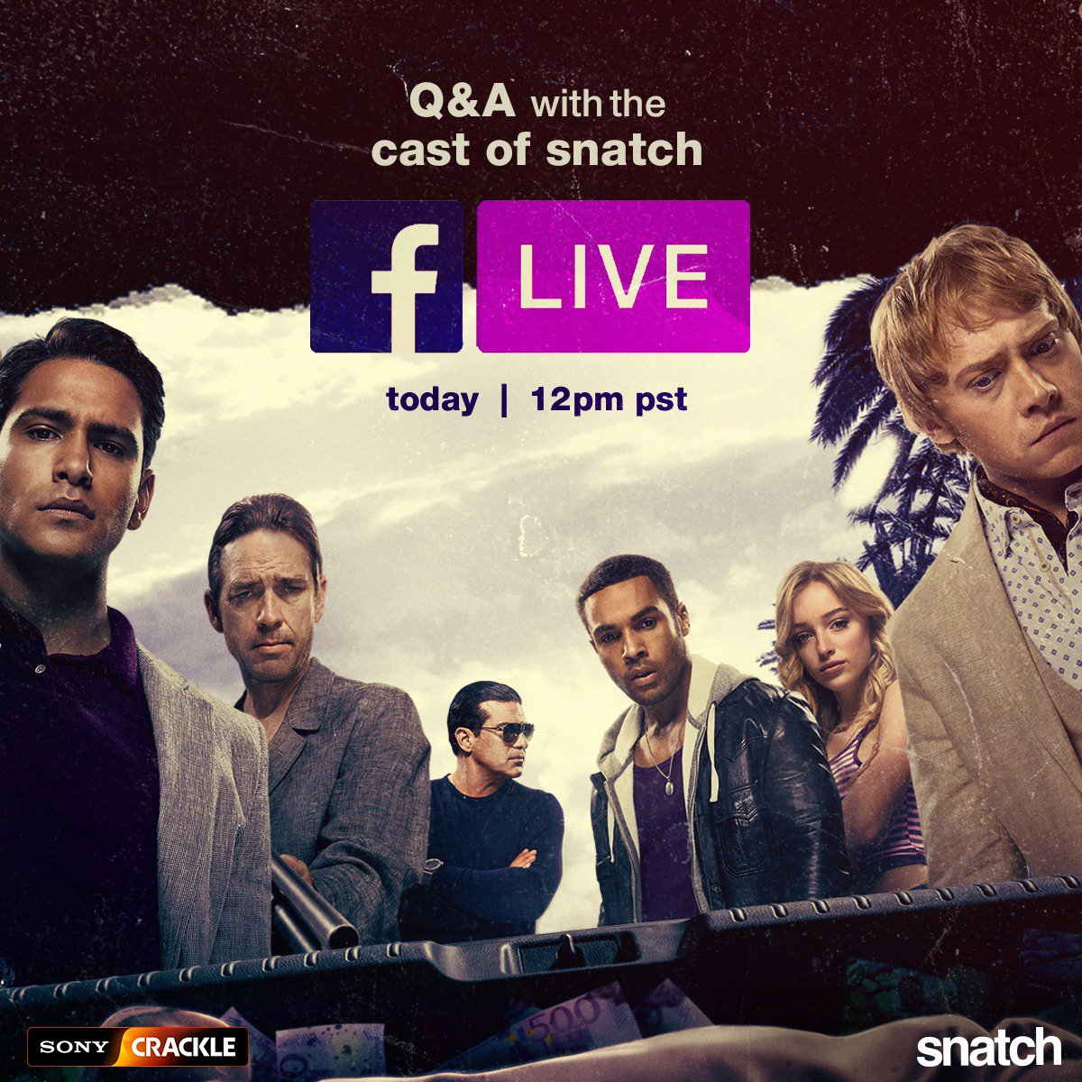 What secrets do the Hill Gang hold? Find out TODAY during a FB Live Q&A with @DougrayScott, @phoebe_dynevor, @lucapasqualino, @ItsLucien , #RupertGrint, @julietaubrey1, & @RealTamerHassan. Ask your questions now or during the FB live & get them answered from the cast!