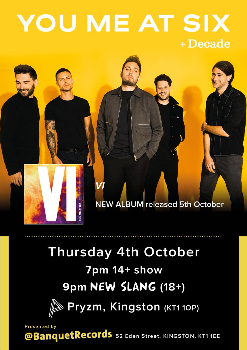 Very hyped to announce @decadeofficial are supporting us at New Slang on the 4th October. Get ya tickets: https://t.co/oVQyYjXFUE https://t.co/2tRFxB92Af