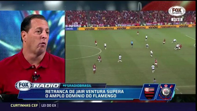 🎙@benjaminback: O que chamou atenção foi a atuação horrorosa do time do @Flamengo. Paquetá jogou muito mal, Vitinho. Esperávamos um Flamengo melhor #FSRádioBrasil Foto