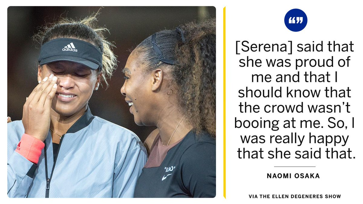 Naomi Osaka finally revealed what Serena Williams told her after her US Open win.
