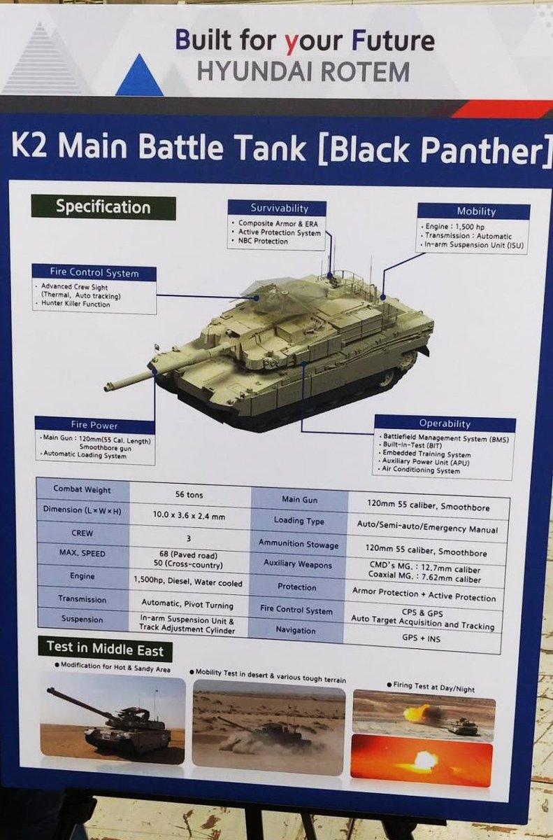 بلد شرق اوسطي واحد على الاقل يبدى اهتماما بشراء دبابات  K2 Black Panther الكوريه الجنوبيه  Dm_YlKKW0AAm-oJ