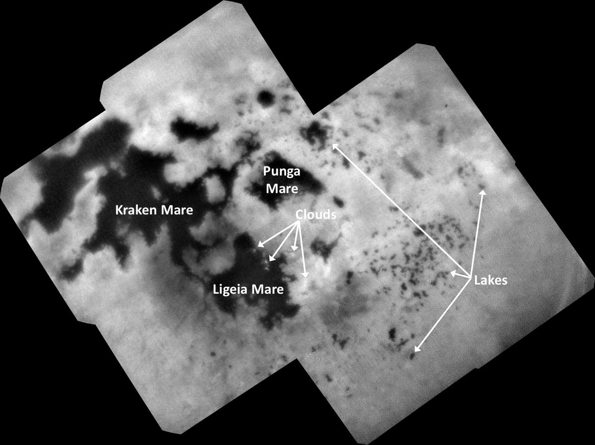 A last look at Titan. @CassiniSaturn's final image of the mysterious moon's Northern lakes and seas leaves us with more questions than answers: https://t.co/xIS3pHFk8o