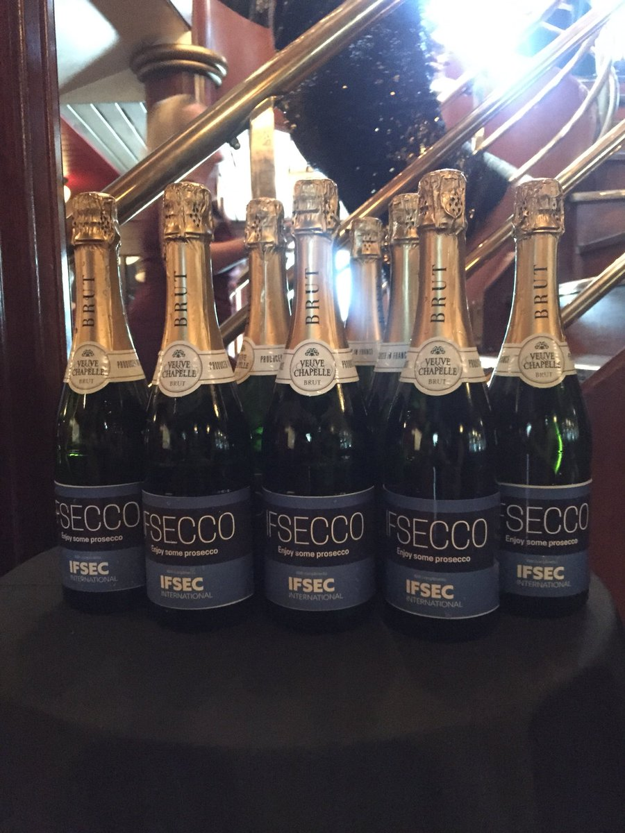IFSECCO prosecco on the boat at @WomeninSecAward #ifsec #london #awardsnight