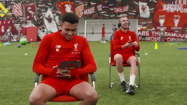 """Whose phone's this? Is your missus pregnant? I think you might wanna get that!"" When an unexpected phone call interrupts the @LFCTV shoot!!! 😮  BEZZIES with @JHenderson and @trentaa98: http://youtu.be/8JWuWPRsSvg"