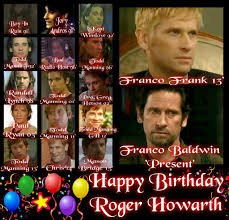 Happy Birthday Roger Howarth & enjoy your special day.