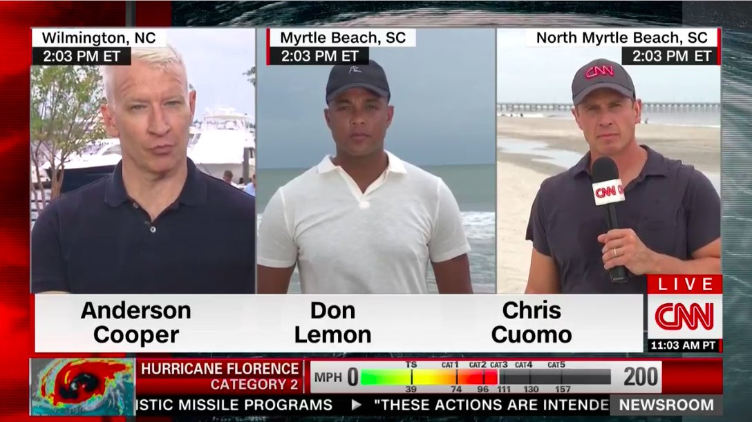 weve reached the critical stage in the hurricane where all the cnn anchors have broken out their short sleeve muscle polo shirts