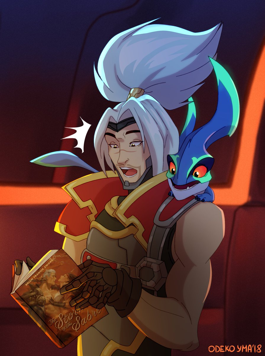 *Gasp* I want to read that book. #LeagueOfLegends #ArtOfLegends #Yasuo