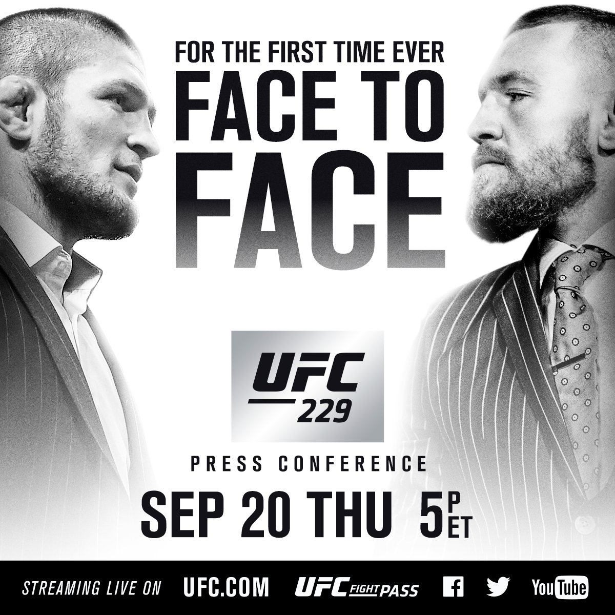FOR THE FIRST TIME EVER. #UFC229 https://t.co/SMx8PMEYI8