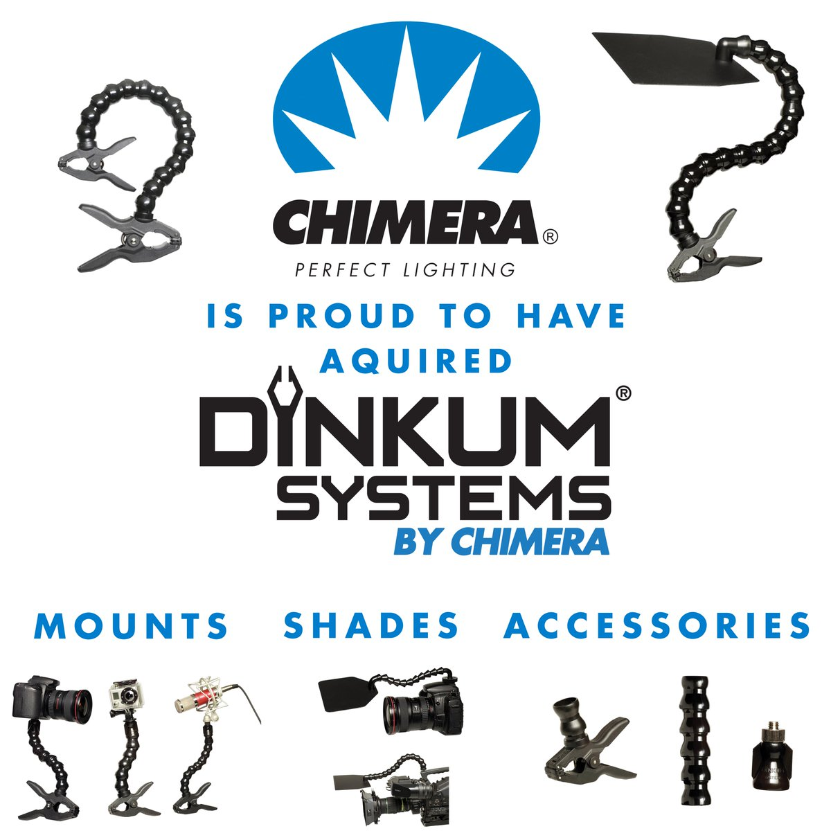 Chimera Lighting Announces The Acquisition Umsystems And Their Prinl Ets Including Entire Range Of Innovative