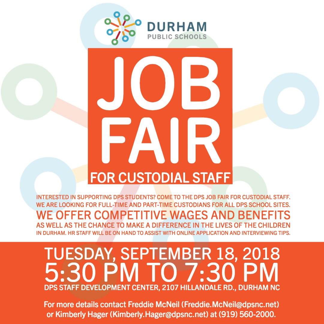 Durham Public Schools On Twitter Jobopportunity Dps Will Host A