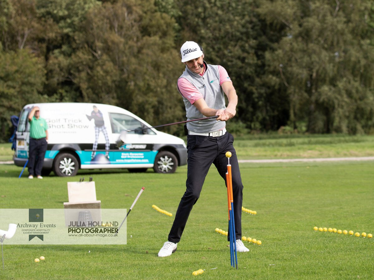 Looking forward to seeing some more amazing ways to play golf with @KCGolfShow at @archwayevents Celebrity Charity Golf Day @barnhambroom next Thursday 13th September #golf #charity #CancerResearch #MakeAWish