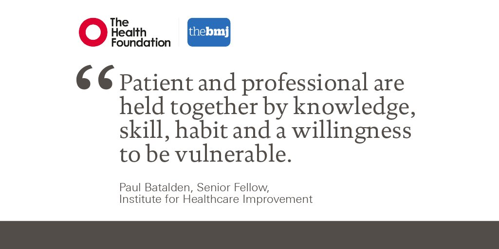 glenn robert on twitter new essay from paul batalden getting  glenn robert on twitter new essay from paul batalden getting more  health from healthcare quality improvement must acknowledge patient  coproduction