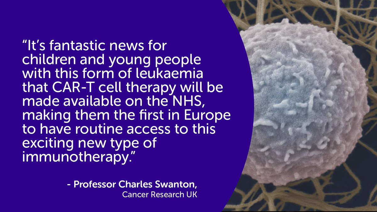 Cancer Research Uk On Twitter Car T Cell Therapy To Be Offered To