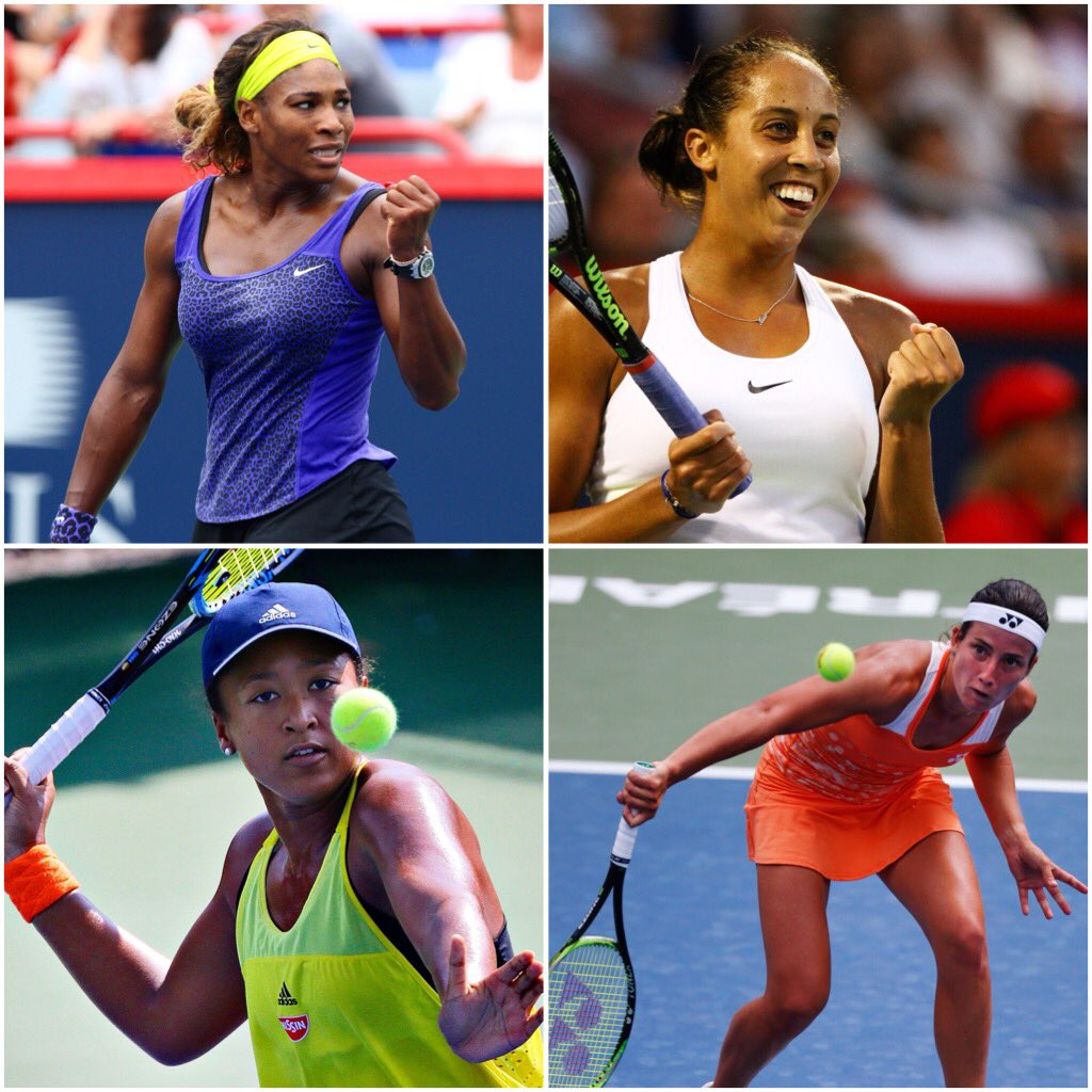 Then there were 4... who will qualify for the #USOpen final? Elles ne sont plus que 4...👏