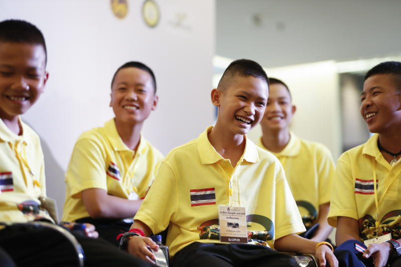 #ThaiCaveRescue boys in the spotlight again as they tour Bangkok exhibit  https://t.co/AhqCH0oSHo