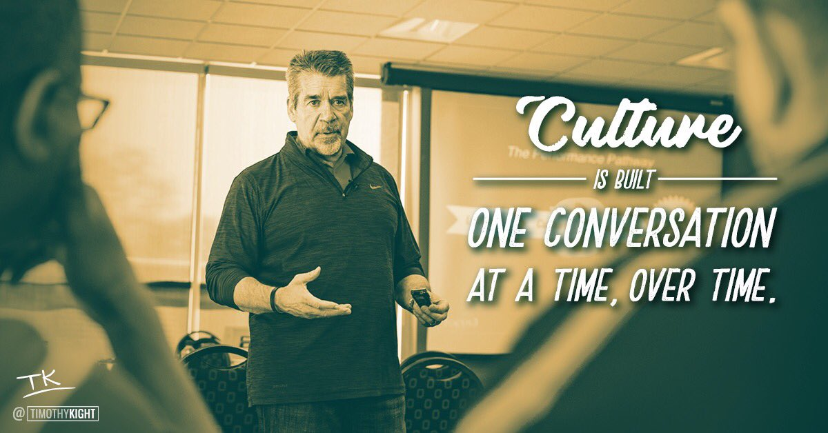 Culture is built person-to-person. It is deeply interpersonal.