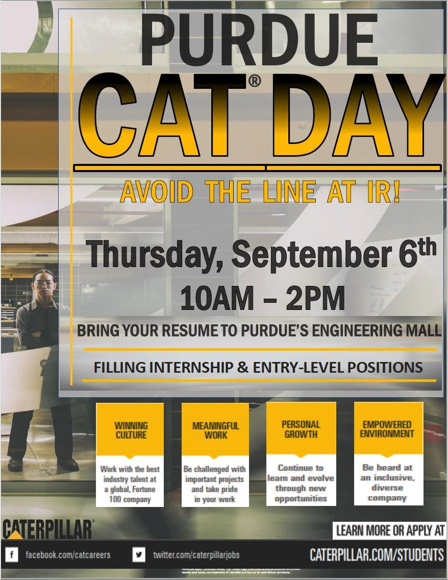 purdue cco on twitter want to meet caterpillar before ir today is
