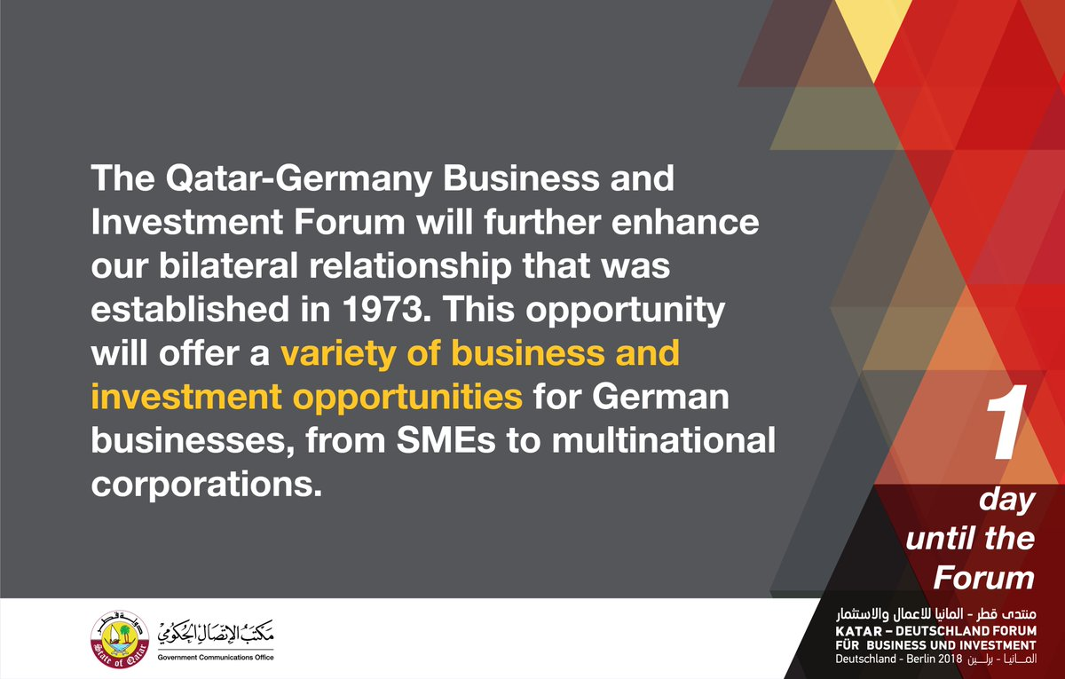 QatarGermanyForum, Berlin, Investment | Baaz