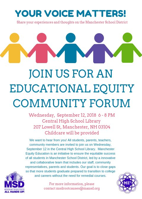 The Next Educational Equity >> Manchester Equity Education Manchesterequi1 Twitter