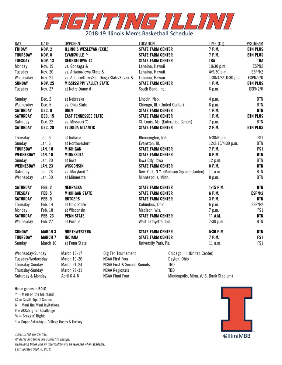 Illinois Basketball On Twitter Printable Pdf Illini