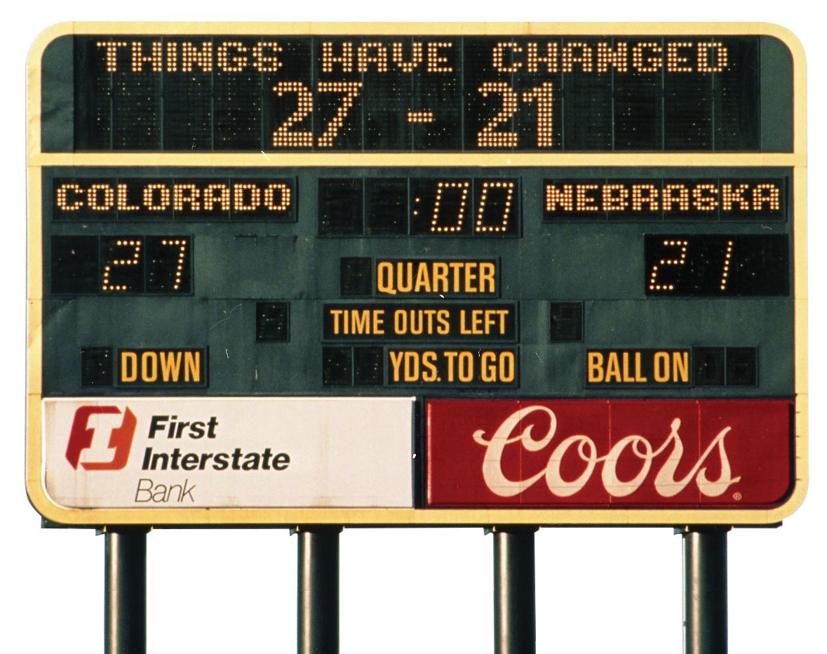 TBT As The Buffs Get Ready To Take On Huskers This Saturday Tell Us Your Favorite Memory From CU Vs Nebraska Football Rivalrypictwitter