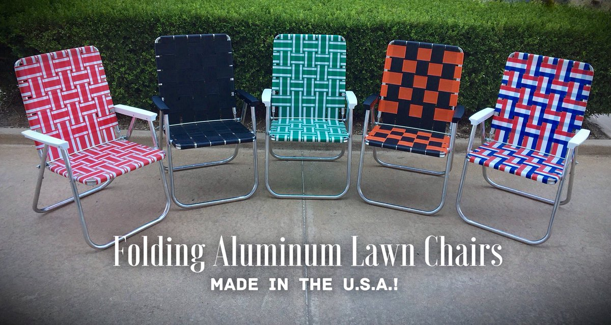 Amp Variety On Twitter Get Ready For Fall Outdoor Activities With These Lovely American Made Aluminum Folding Lawn Chairs They Are Now 39 Each At Amp Variety Come By The Store And