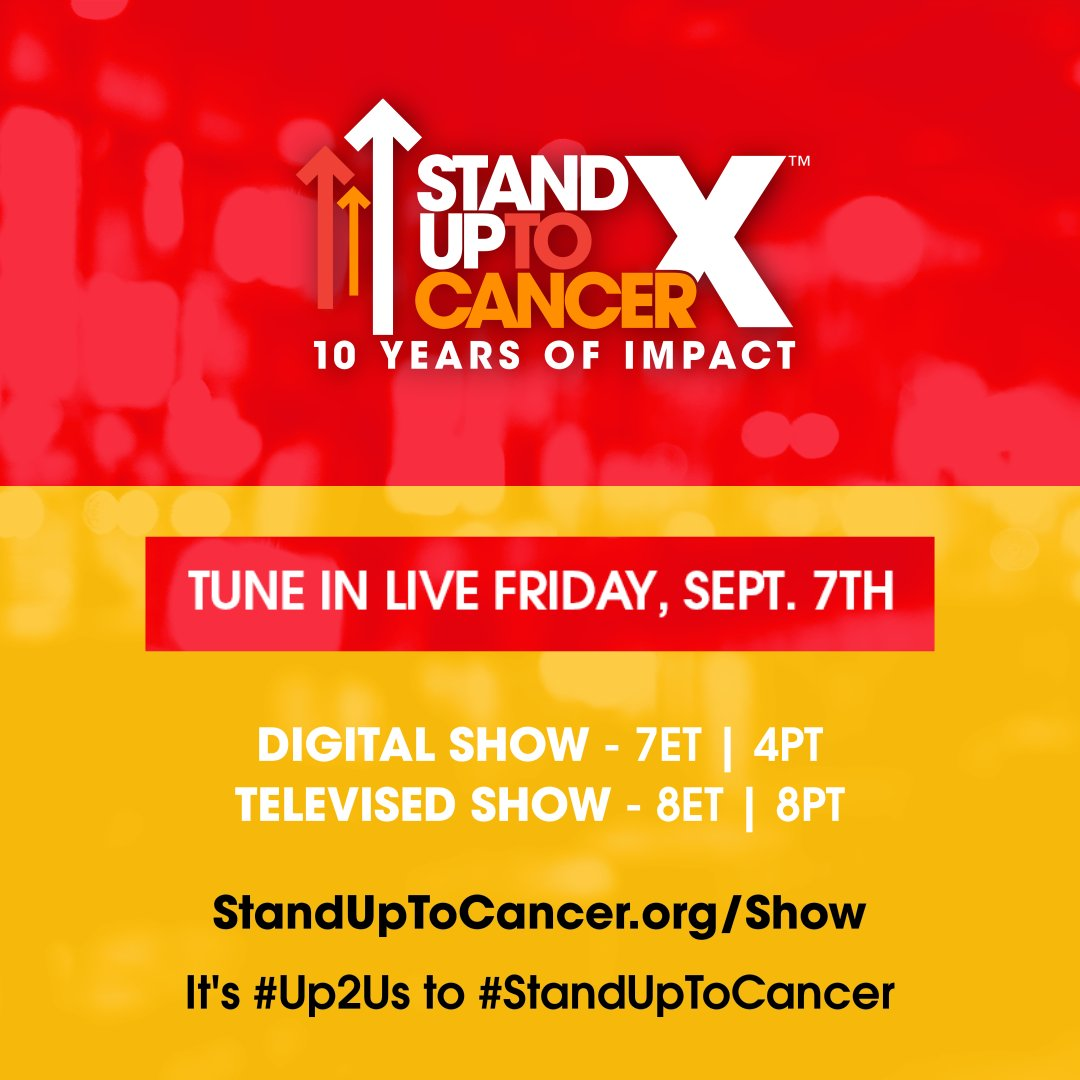 TONIGHT! @SU2C unites all of your favorite stars at 7ET | 4PT. Tune in and learn more at https://t.co/qug7bHgz3p. #Up2Us #StandUpToCancer