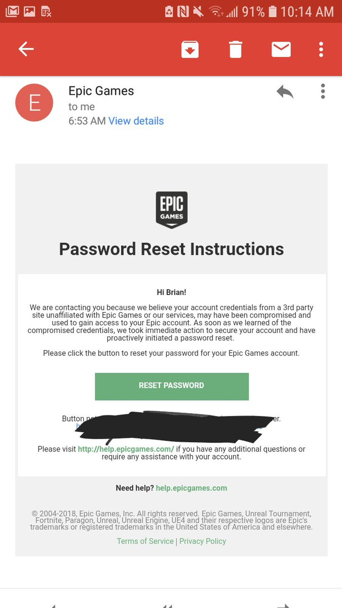 Did anyone else get this email from epic Tweet added by