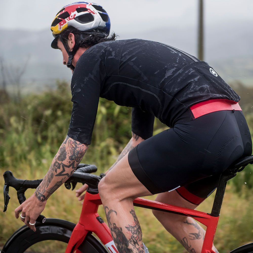 """Sigma Sports on Twitter: """"One of the most exciting pieces in @assos_com's  new autumn/winter range, the Liberty RS23 Thermo Rain Short Sleeve Jersey  is made from Schloss Tex, a lightweight and waterproof"""