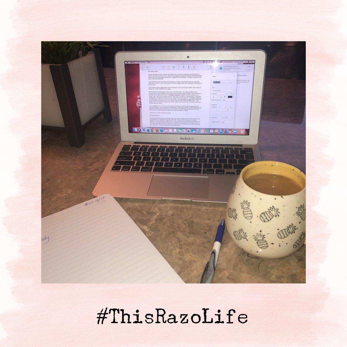 Doing some follow up from a biz call last night! #synsquad #tse #workfromhome #freedomseeker #thisrazolife #jplifestyle #fruitsandveggiespic.twitter.com/GhlaqQbQYn