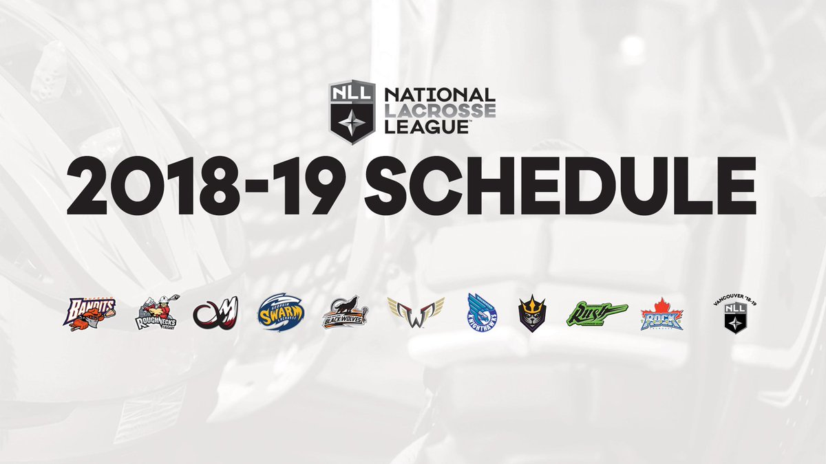 The day we have been waiting for all summer has finally come! The 2018-19 #NLL Schedule has been released 👉 bit.ly/20819NLLSchedu… What game are you most looking forward to?
