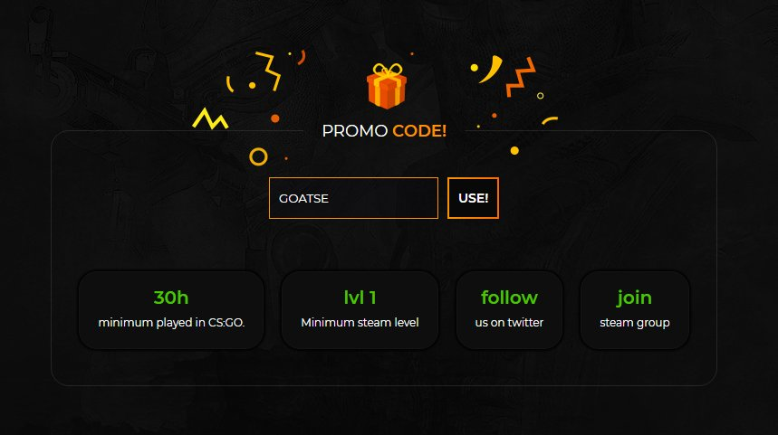 Faceit coupon code csgo betting college football betting tips of the week