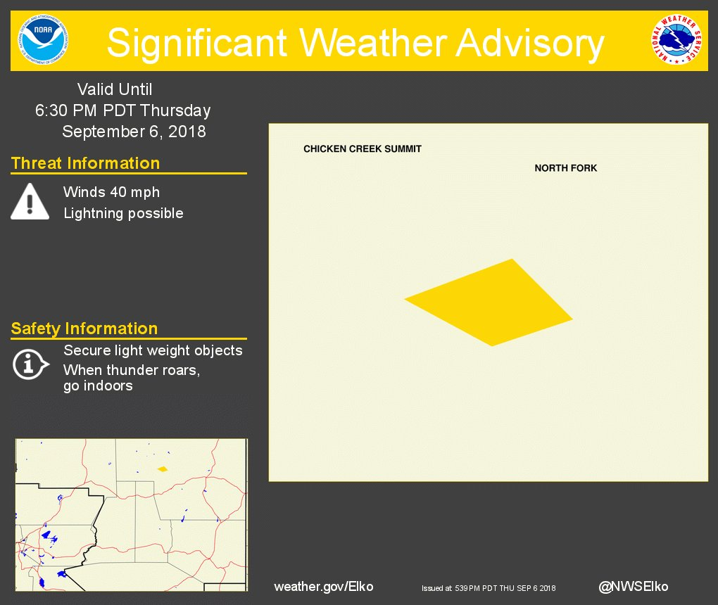Significant Weather Advisory for The Gance Fire until 630 Pm Pdt. https://t.co/PhJSxM70HQ #nvwx